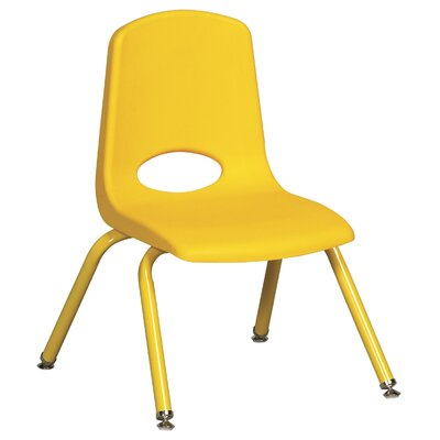 "ECR4kids 12"" Plastic School Stack Classroom Chair with Matching Legs (Set of 6)"