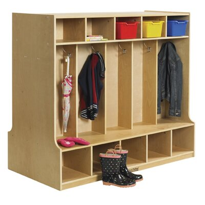 ECR4kids 10 Section Double Sided Coat Locker