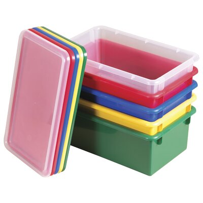 ECR4kids Stack and Store Bins with Lids (Set of 12 )