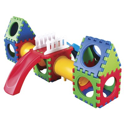 ECR4kids 30 Pieces Tunnel Cube Play with Slide