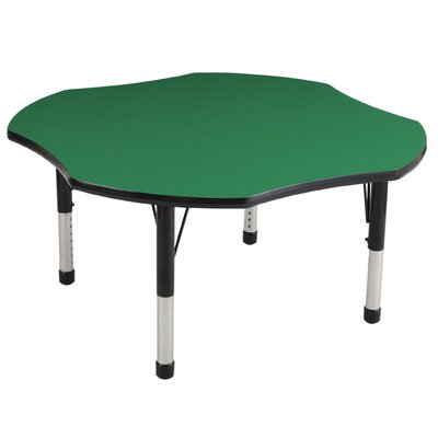 "ECR4kids 48"" Clover Adjustable Activity Table"