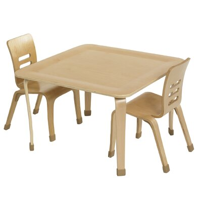 "ECR4kids 30"" Square Bentwood Play Table"