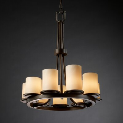 Justice Design Group CandleAria Dakota 9 Light Chandelier