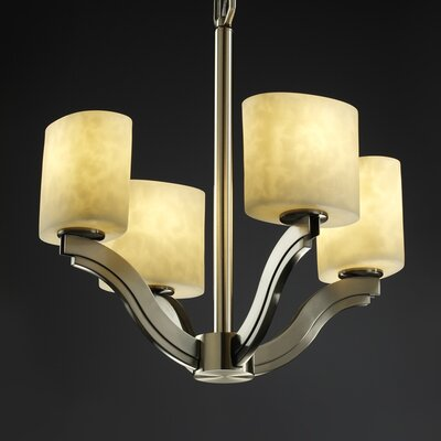 Justice Design Group Bend Clouds 4 Light Chandelier