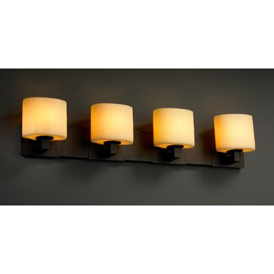 Justice Design Group Modular CandleAria 4 Light Bath Vanity Light