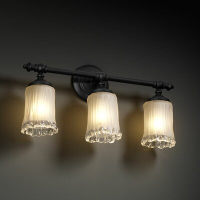 Justice Design Group Veneto Luce Tradition 3 Light Bath Vanity Light