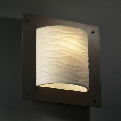 Justice Design Group Porcelina Framed 1 Light Wall Sconce