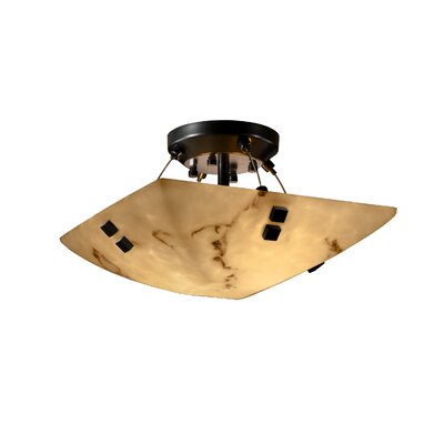 Justice Design Group Finials LumenAria 2 Light Semi Flush Mount