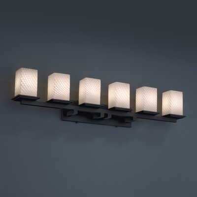 Justice Design Group Montana Fusion 6 Light Bath Vanity Light