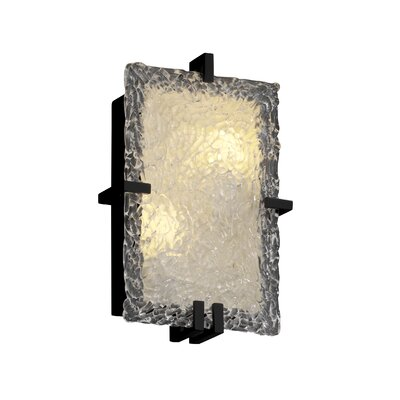 Justice Design Group Clips Veneto Luce Rectangular 2 Light Wall Sconce
