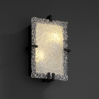 Justice Design Group Clips Veneto Luce Rectangular Wall Sconce