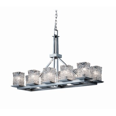 Justice Design Group Montana Veneto Luce 10 Light Rectangular Chandelier