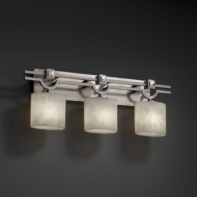 Justice Design Group Clouds Heritage 3 Light Bath Vanity Light