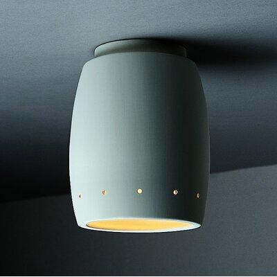 Justice Design Group Radiance Curved 1 Light Outdoor Flush Mount