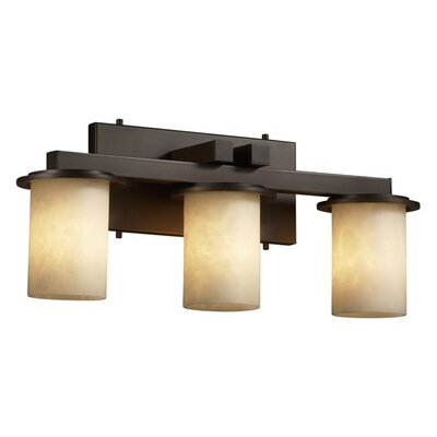 Justice Design Group Clouds Dakota 3 Light Bath Vanity Light