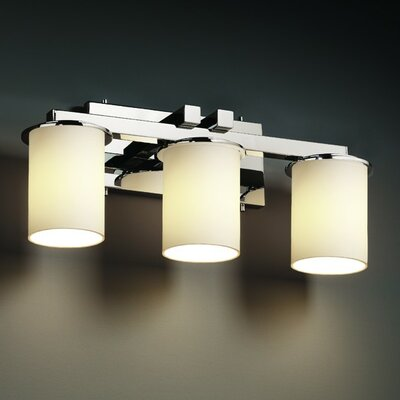 Justice Design Group Fusion Dakota Three Light Bath Vanity