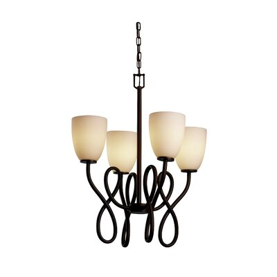Justice Design Group Fusion Capellini 4 Light Chandelier