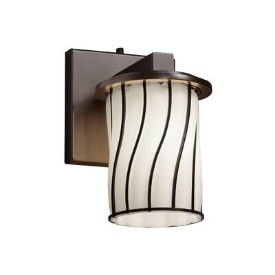 Justice Design Group Wire Glass Dakota 1 Light Wall Sconce