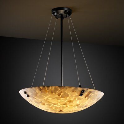 Justice Design Group Alabaster Rocks 3 Light Inverted Pendant
