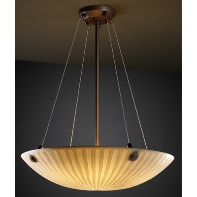 Porcelina 3 Light Inverted Pendant