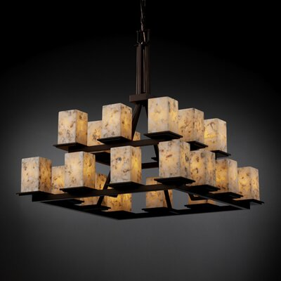 Alabaster Rocks Montana 20 Light Chandelier