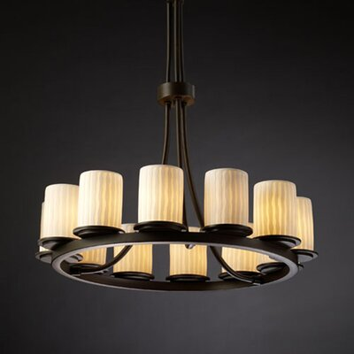 Limoges Dakota 12 Light Chandelier with Additional Chain