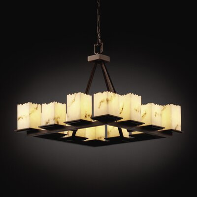 Justice Design Group LumenAria Montana 12 Light Chandelier