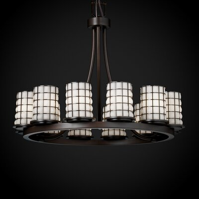 Wire Glass Dakota 12 Light Ring Short Chandelier