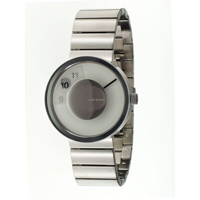 Issey Miyake Vue Yves Behar Watch with Silver Metal Band