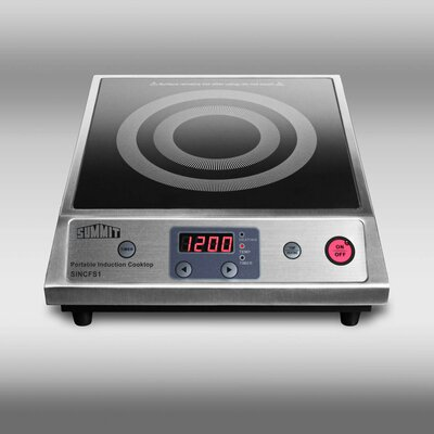 Summit Appliance Induction Cooktop with Stainless Steel Cabinet