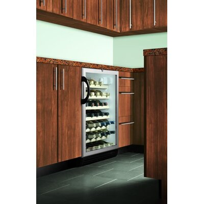Summit Appliance Wine Cellar with Black Cabinet