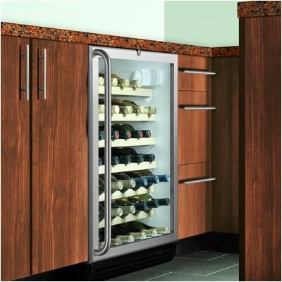 Summit Appliance Wine Cellar with Installed Lock in Black