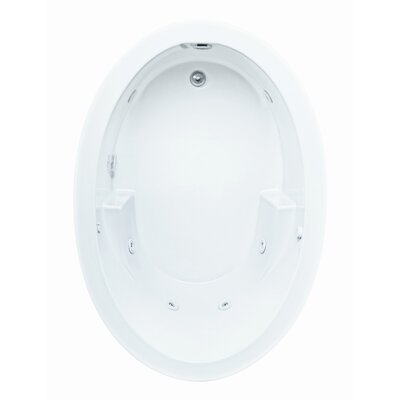 "Reliance Whirlpools Basics 60"" x 42"" Oval Whirlpool Bath Tub with End Drain"