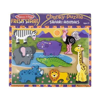 Melissa and Doug Safari Chunky Wooden Puzzle