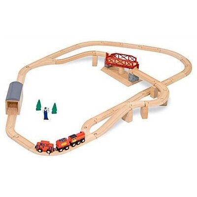 Melissa and Doug Swivel Bridge Train Set