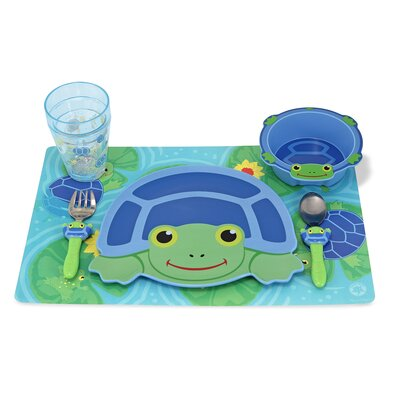 Melissa and Doug Scootin' Turtle Mealtime Set