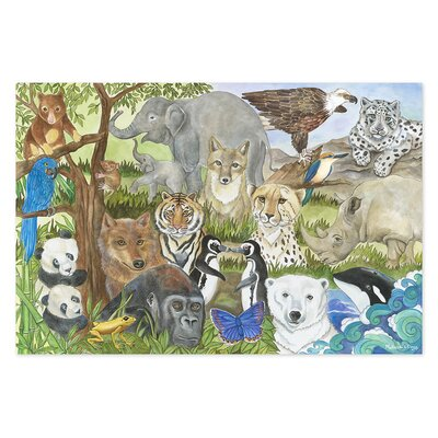 Melissa and Doug Endangered Species 48 Piece Floor Puzzle Set
