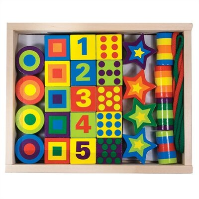 Melissa and Doug Lacing Beads in a Box Craft Set