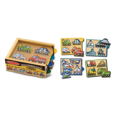 Melissa and Doug Vehicles Mini Puzzle Pack