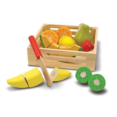 Melissa and Doug Play Food Cutting Fruit Crate