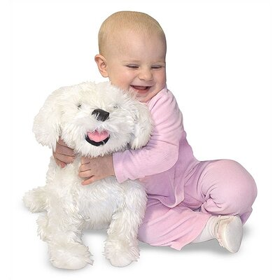 Melissa and Doug Plush Bichon Frise Stuffed Dog