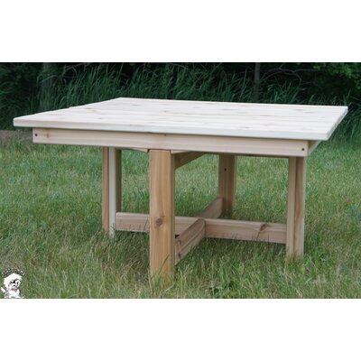 Buyers Choice Phat Tommy Square Folding Cedar Patio Table