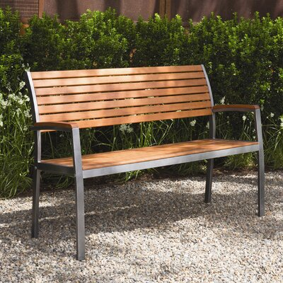 Buyers Choice Phat Tommy Fushion Steel Wood Park Bench Reviews Wayfair