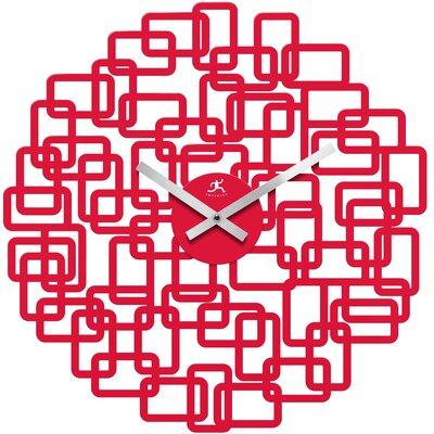 Infinity Instruments Helix Wall Clock in Red