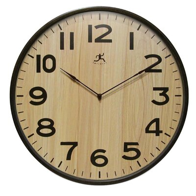 Infinity Instruments Arbor Wall Clock with Dark Wood Case