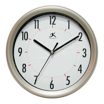 Infinity Instruments Facile Wall Clock in Gunmetal