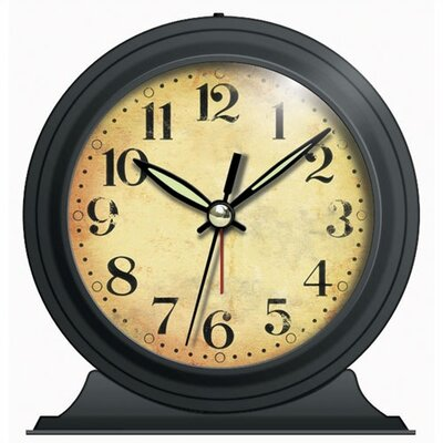 Infinity Instruments Antique Look Metal Alarm Clock