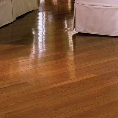 "Somerset Floors Color Plank 3-1/4"" Engineered White Oak Flooring in Gunstock"