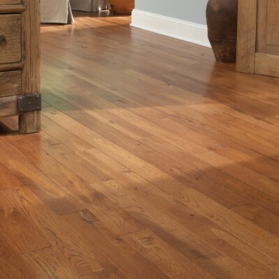 "Somerset Floors American Country 4"" Solid Hickory Flooring in Hickory Sunset"