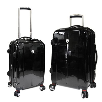 Travelers Club Berlin 2 Piece Expandable 4-Wheels Hardcase Luggage Set